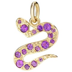Pomellato, Dodo Serpent 18 Karat Yellow Gold and Amethysts Pendant