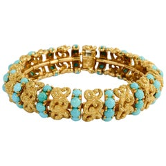 Pomellato Gold and Turquoise Bracelet