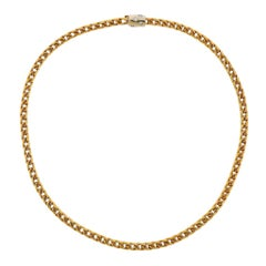 Pomellato Gold Diamond Chain Necklace