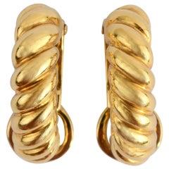 Pomellato Half Hoop Oval Earrings