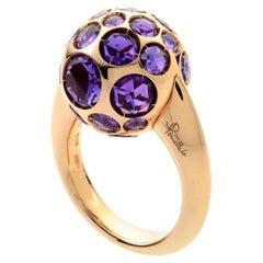 Pomellato Harem 18 Karat Rose Gold and Amethyst Sphere Ring