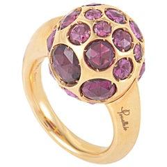 Pomellato Harem 18 Karat Rose Gold Rhodolite Gemstone Ring A.A701/O7/GR