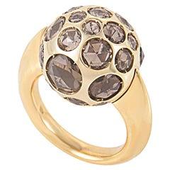 Pomellato Harem 18 Karat Rose Gold Smokey Quartz Gemstone Ring A.A701/O6/QF