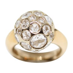 Pomellato Harem 18 Karat Yellow Gold White Rock Crystal Ring