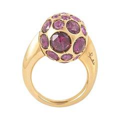 Pomellato Harem Ring in 18 Karat Rose Gold with Rhodolites