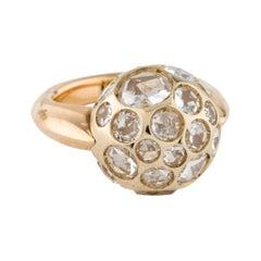 Pomellato Harem Ring in 18 Karat Rose Gold with White Quartz