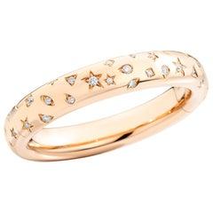 Pomellato Iconica 18 Karat Rose Gold and Diamond Bangle Bracelet