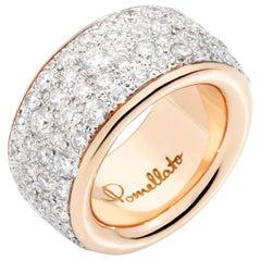 Pomellato Iconica 18 Karat Rose Gold and Diamond Maxi Ring