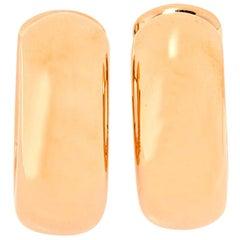 Pomellato Iconica 18K Rose Gold Hoop Earrings