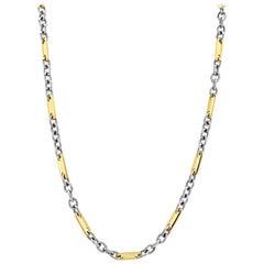 Designer Pomellato Chain/Necklace in 18K Bimetal white & Gold for Ladies/Gents