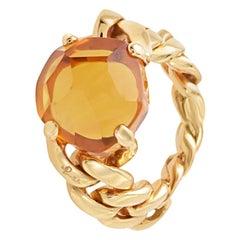 Pomellato Lola 18 Karat Rose Gold Madeira Quartz Ring A.A507/O7/OV