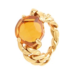 Pomellato Lola Collection Madeira Quartz in 18 Karat Rose Gold Ring