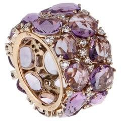 Pomellato Lulu Amethyst Diamond Ring