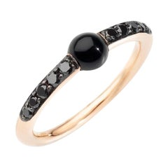 Pomellato m'ama non m'ama Onyx and Black Diamonds Ladies Ring A.B909BB7ON