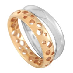 Pomellato Milano 18k Rose Gold and White Gold Duo Ring
