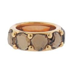 Pomellato Narciso Smokey Topaz Gold Ring