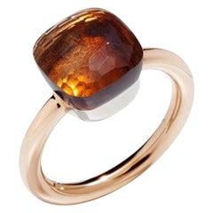 Pomellato Nudo Classic Ring in Rose Gold and Citrine Quartz A.A110-O6-OV