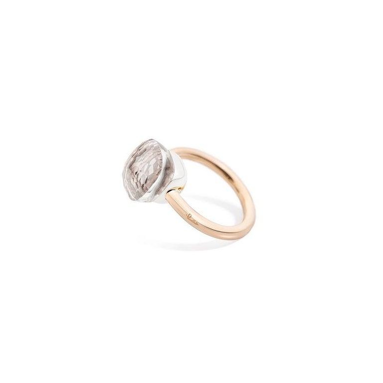 Pomellato Nudo Classic Ring in Rose Gold and White Topaz A