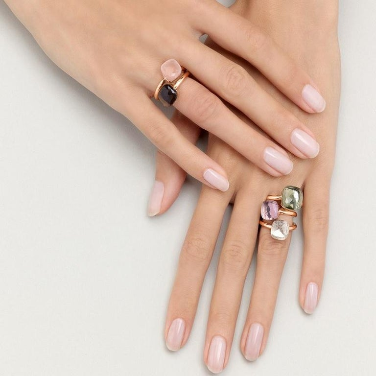Pomellato Nudo Classic Ring Rose Gold, Smokey Quartz | Slaets