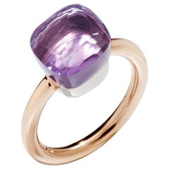 Pomellato Nudo Classic Ring in Rose Gold with Rose De France A.A110-O6-IC