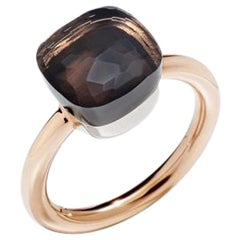 Pomellato Nudo Classic Ring in Rose Gold with Smoky Quartz AS.A110-O6-QF