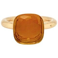 Pomellato Nudo Collection Citrine Quartz 18 Carat Rose Gold Ring