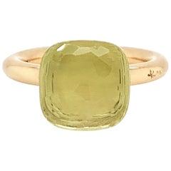 Pomellato Nudo Collection Lemon Quartz 18 Carat Rose Gold Ring
