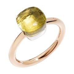 Pomellato Nudo Collection Lemon Quartz and Pink Gold Ring