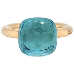 Pomellato Nudo Collection Light Blue Topaz 18 Carat Rose Gold Ring