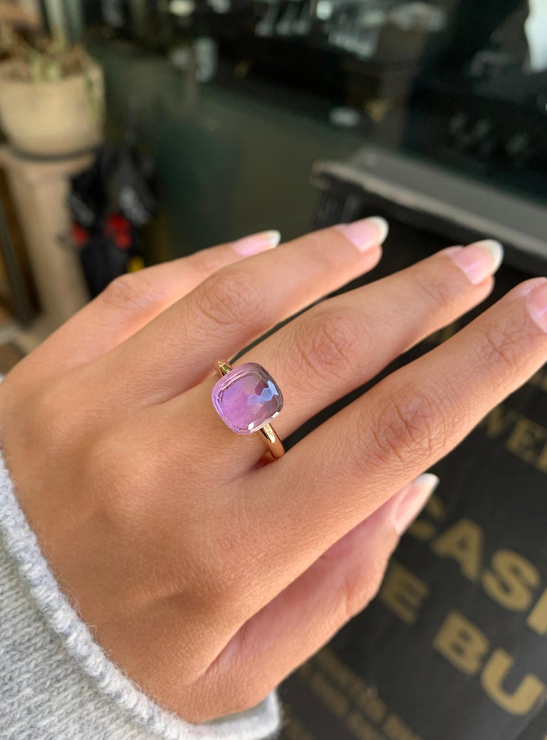 Pomellato Nudo Classic Ring in Rose Gold with Amethyst A