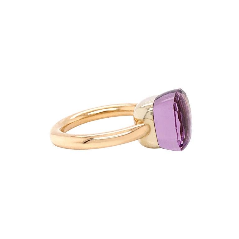 Modern Pomellato Nudo Collection Rose De France 18 Carat Rose Gold Ring For Sale