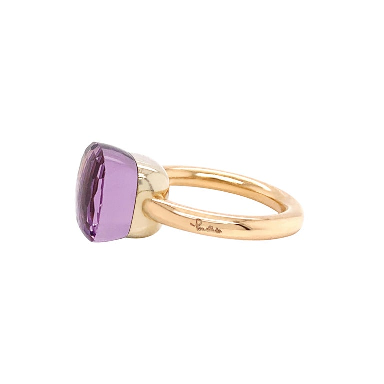 Cushion Cut Pomellato Nudo Collection Rose De France 18 Carat Rose Gold Ring For Sale