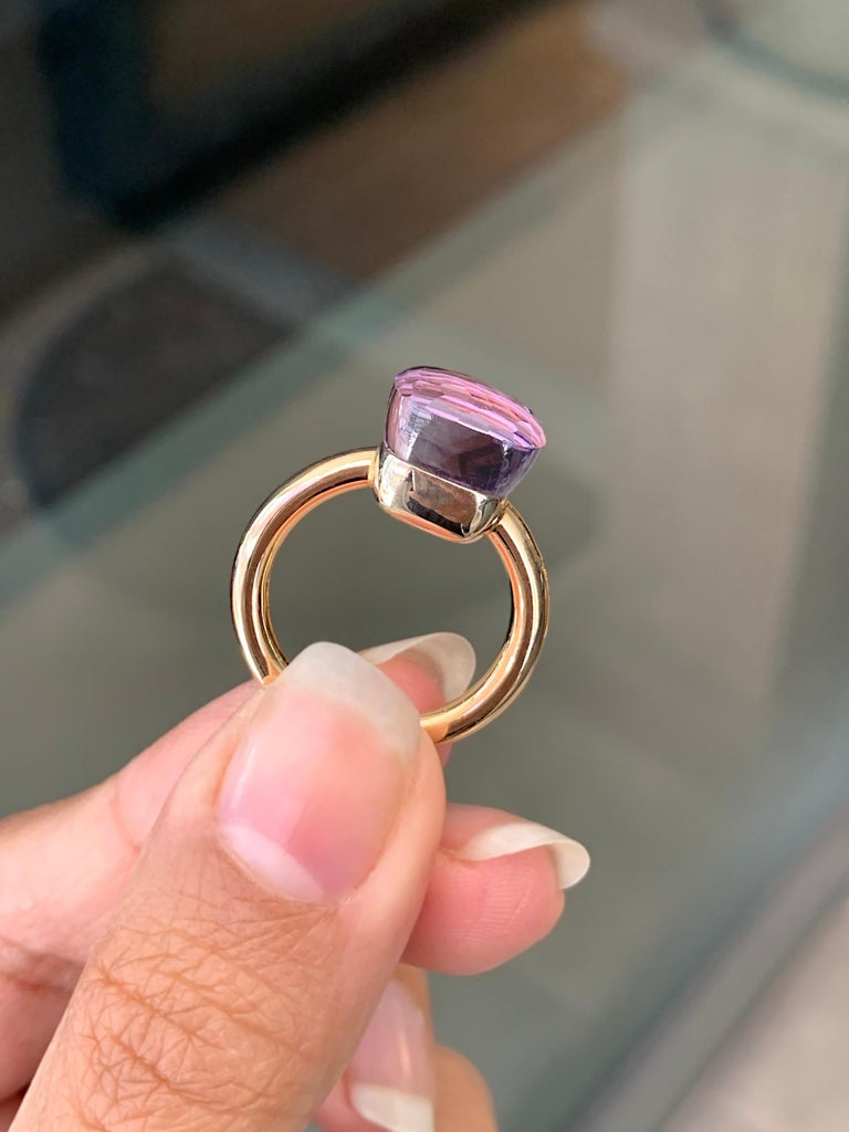 Pomellato Nudo Collection Rose De France 18 Carat Rose Gold Ring For Sale 2