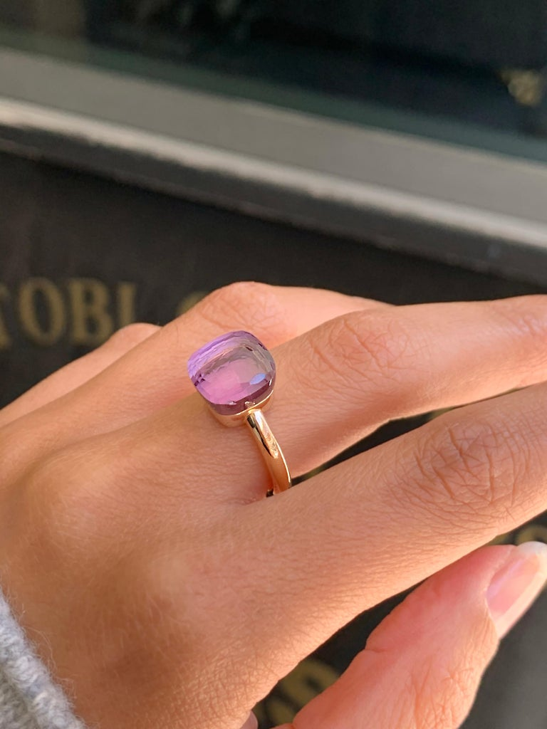 Pomellato Nudo Collection Rose De France 18 Carat Rose Gold Ring For Sale 3