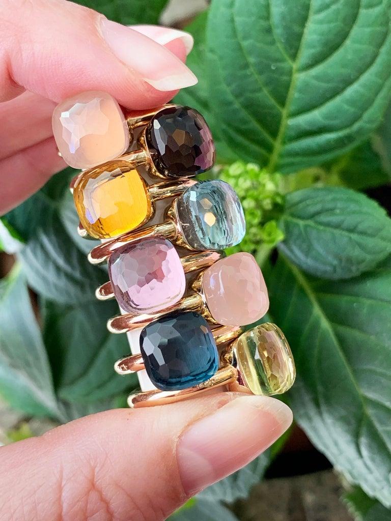 Pomellato Nudo Collection Smokey Quartz 18 Carat Rose Gold Ring For Sale 5