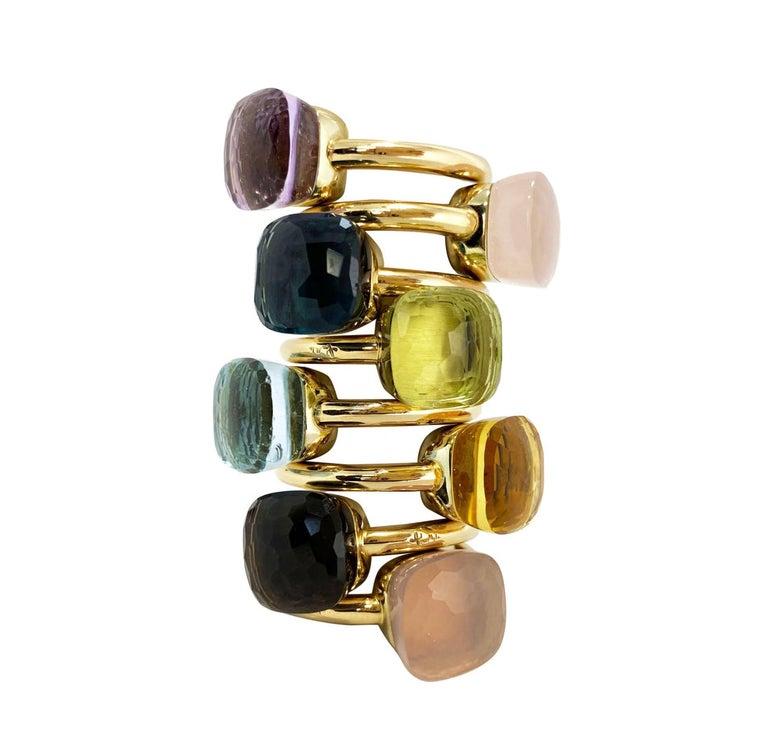 Pomellato Nudo Collection Smokey Quartz 18 Carat Rose Gold Ring For Sale 6