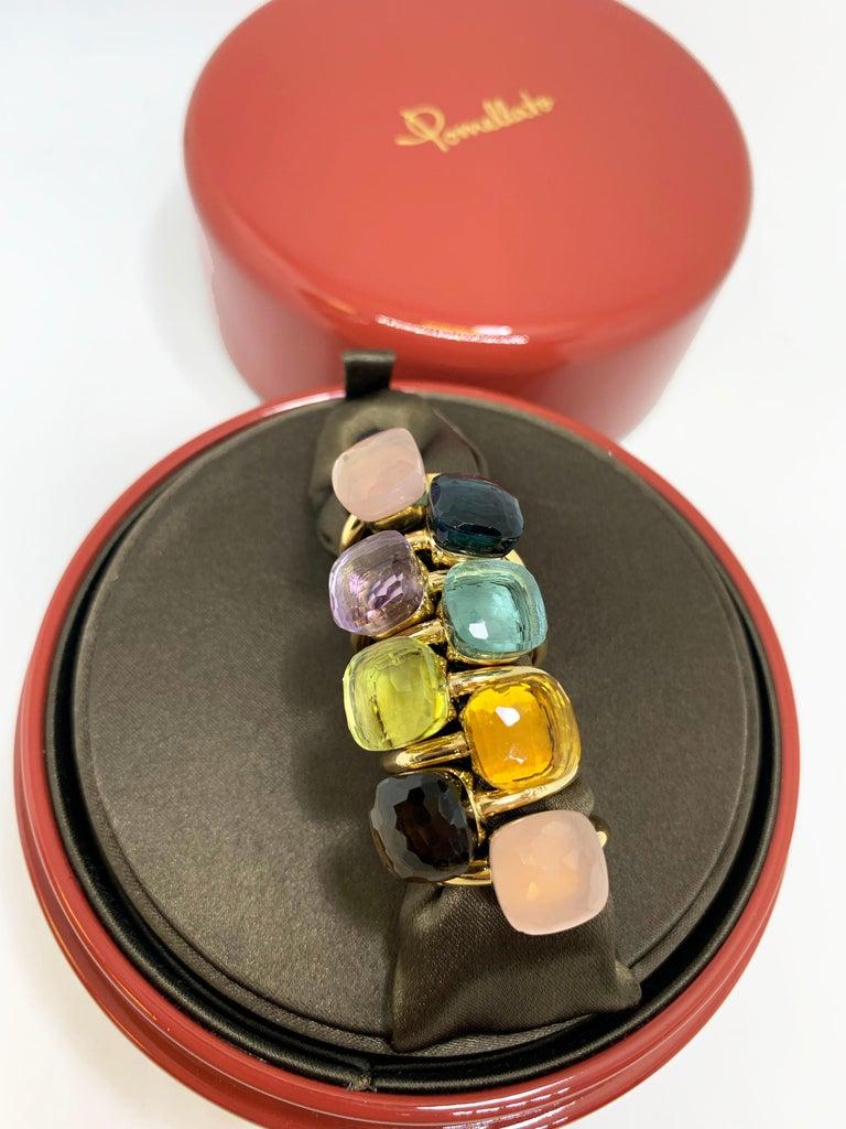 Pomellato Nudo Collection Smokey Quartz 18 Carat Rose Gold Ring For Sale 7
