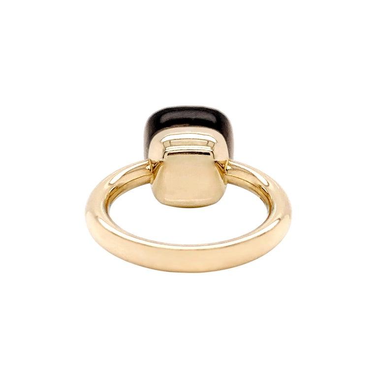 Pomellato Nudo Collection Smokey Quartz 18 Carat Rose Gold Ring In Good Condition For Sale In London, GB
