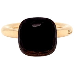 Pomellato Nudo Collection Smokey Quartz 18 Carat Rose Gold Ring