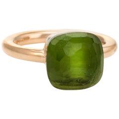 Pomellato Nudo Lemon Quartz Ring 18 Karat Rose Gold Estate Fine Jewelry