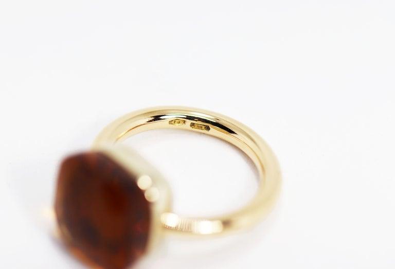Modern Pomellato Nudo Maxi Citrine Quartz 18 Carat Rose Gold Ring For Sale