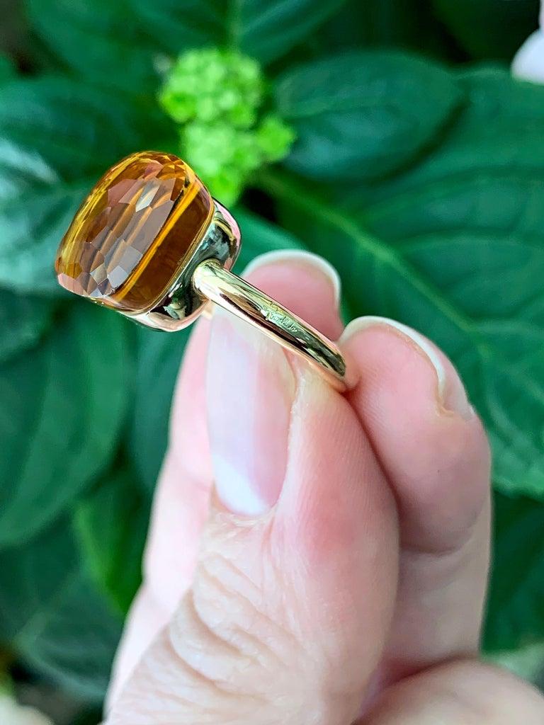 Pomellato Nudo Maxi Citrine Quartz 18 Carat Rose Gold Ring In Good Condition For Sale In London, GB