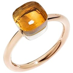 Pomellato Nudo Petit Ring in White and Rose Gold Citrine Quartz A.B403-O6-OV