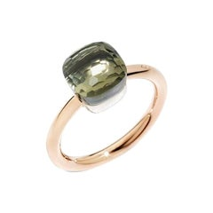 Pomellato Nudo Petit Ring in White and Rose Gold with Prasiolite A.B403-O6-PA