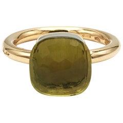Pomellato 'Nudo' Rose Gold Peridot Stone Ring