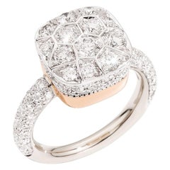 Pomellato Nudo Solitaire Ring in WG & RG with Diamonds Carat .2.18, A.B704GO6/B9