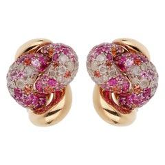 Pomellato Pink Sapphire Diamond Rose Gold Earrings