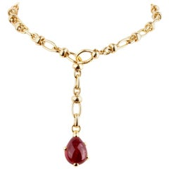 Pomellato Pink Tourmaline Gold Chain Necklace