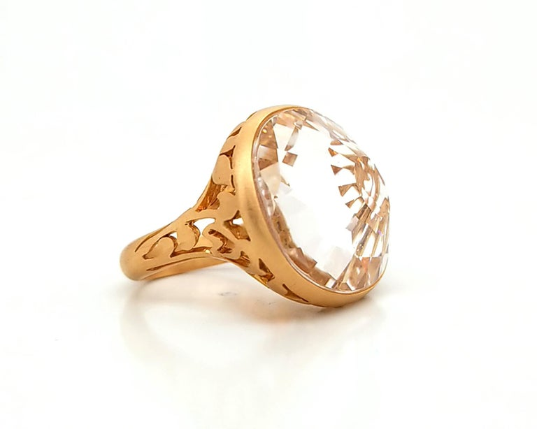 Pomellato Quartz Rose Gold Cocktail Ring In Excellent Condition In New York, NY