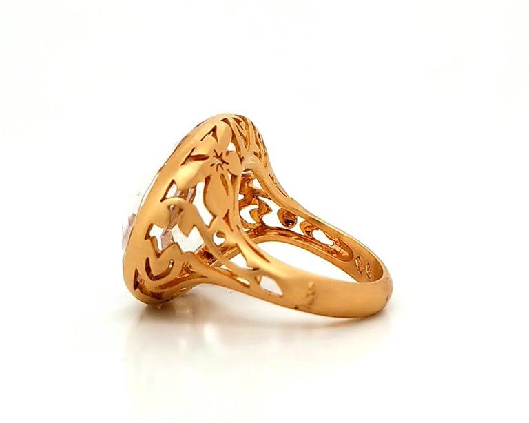 Women's Pomellato Quartz Rose Gold Cocktail Ring